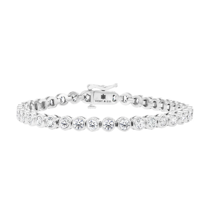 Bezel Set Diamond Tennis Bracelet - Best & Co.
