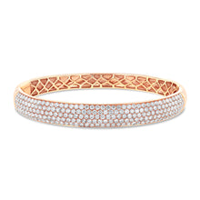 Rose Gold Diamond Bangle - Best & Co.