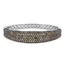 Concave Champagne Diamond Bangle