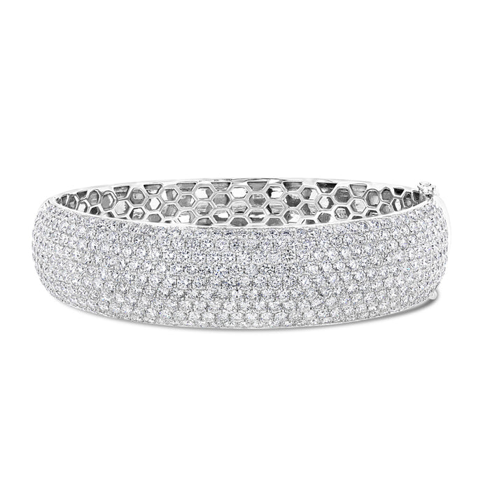 White Gold Diamond Bangle - Best & Co.