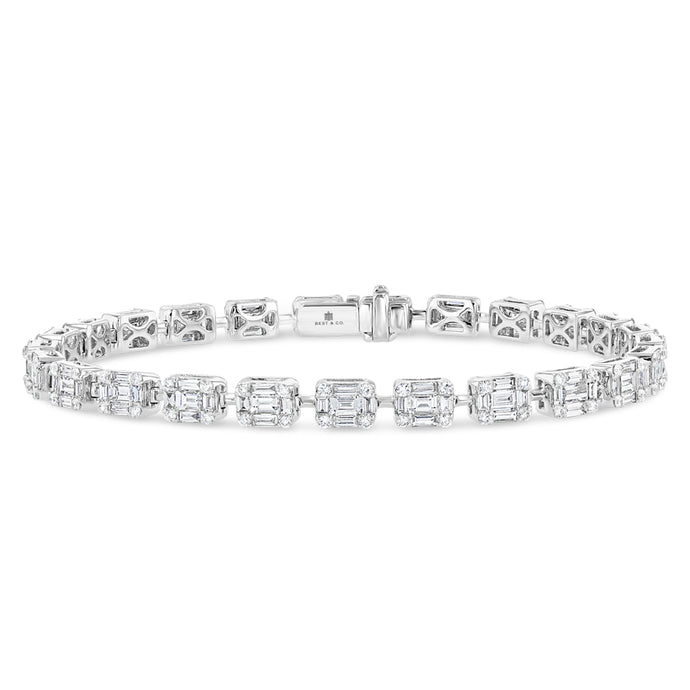 Emerald Illusion Diamond Bracelet - Best & Co.