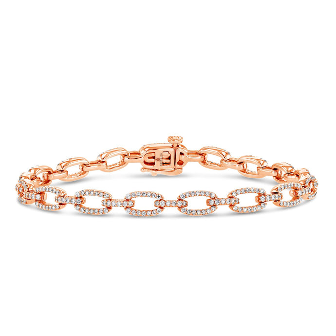 Diamond Pavé Chain Bracelet (Rose Gold)