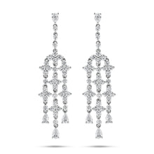 White Diamond Chandelier Earrings - Best & Co.