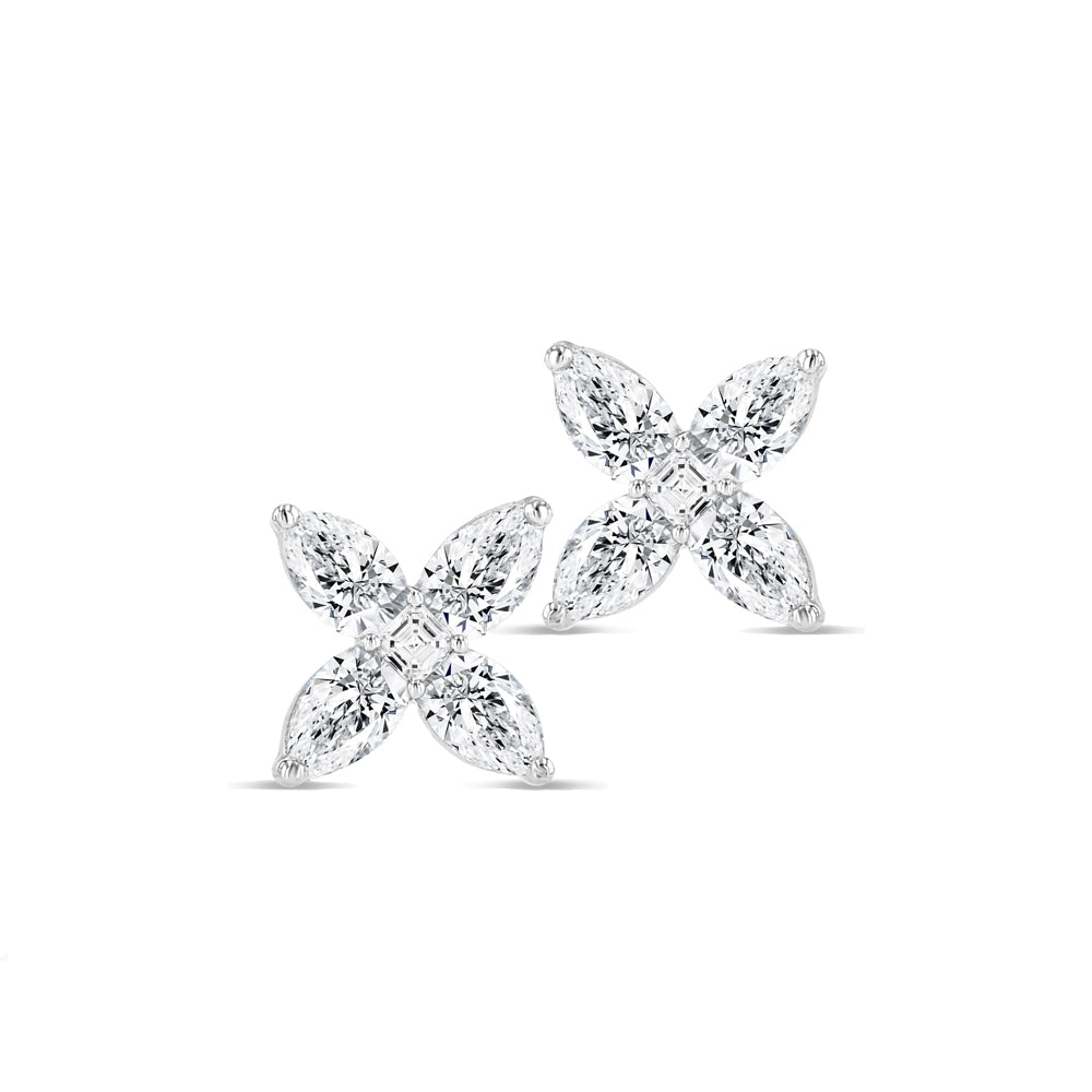 Diamond Flower Studs (Small)