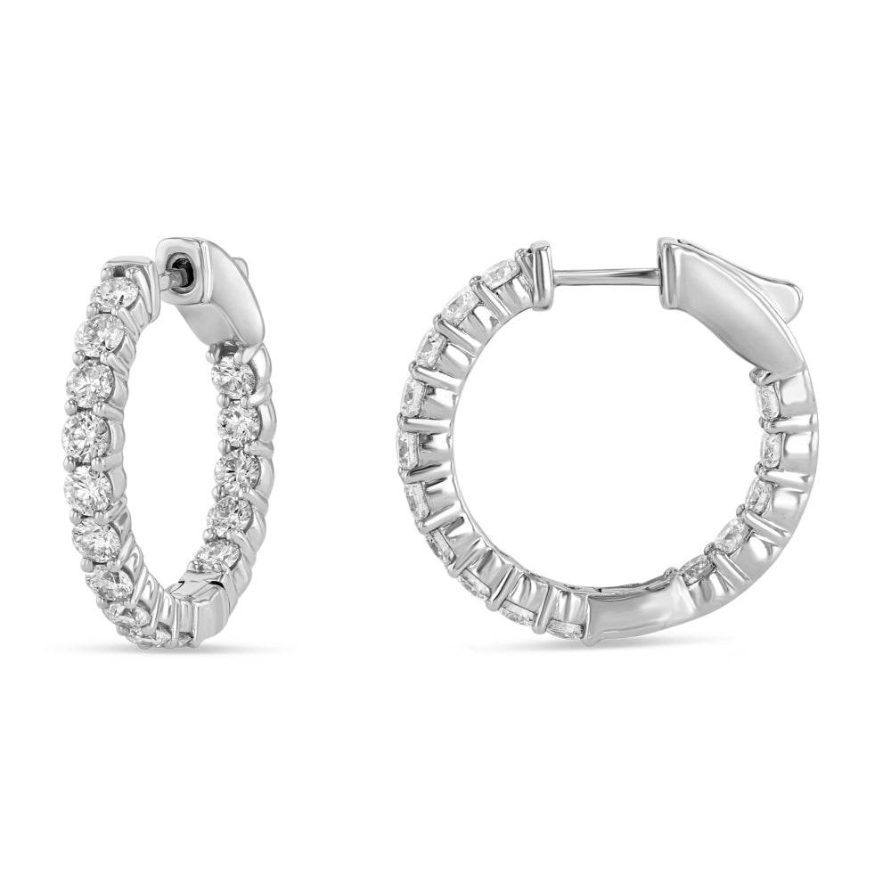 Diamond Infinity Hoops