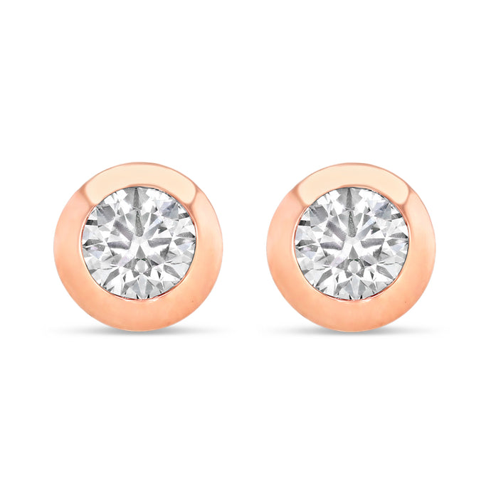 Faint Pink Diamond Studs (0.50 tcw)