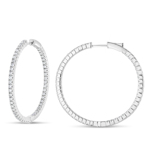 Perfect Diamond Hoops - Best & Co.