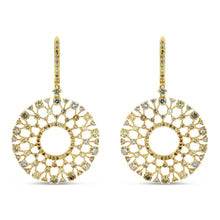 Multi-Color Diamond Sunburst Earrings