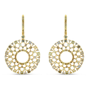 Multi-Color Diamond Sunburst Earrings - Best & Co.