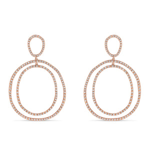 Organic Oval Earrings - Best & Co.