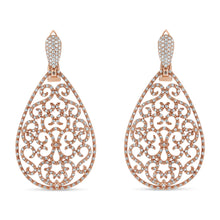 Diamond Filigree Teardrop Earrings - Best & Co.