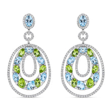 BlueGreen Earrings