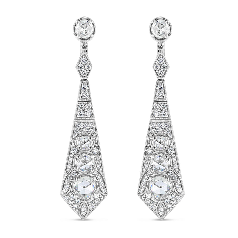 Art Deco Diamond Earrings - Best & Co.