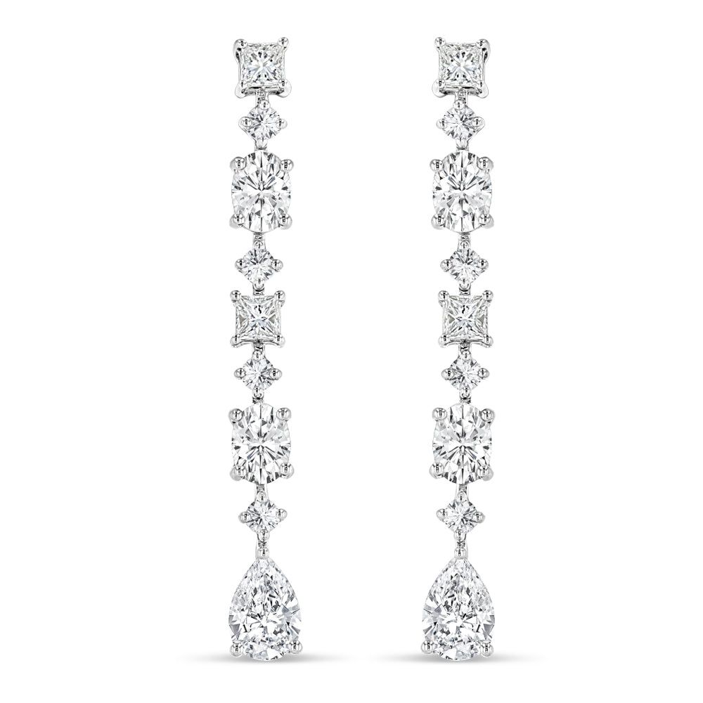 Multi-Shape Diamond Earrings - Best & Co.