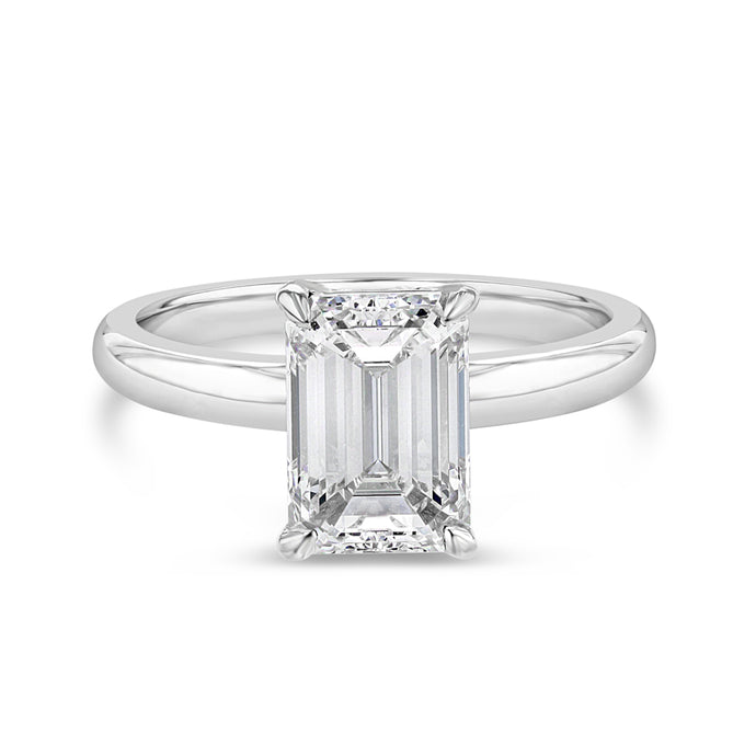 Timeless Emerald Cut Engagement Ring