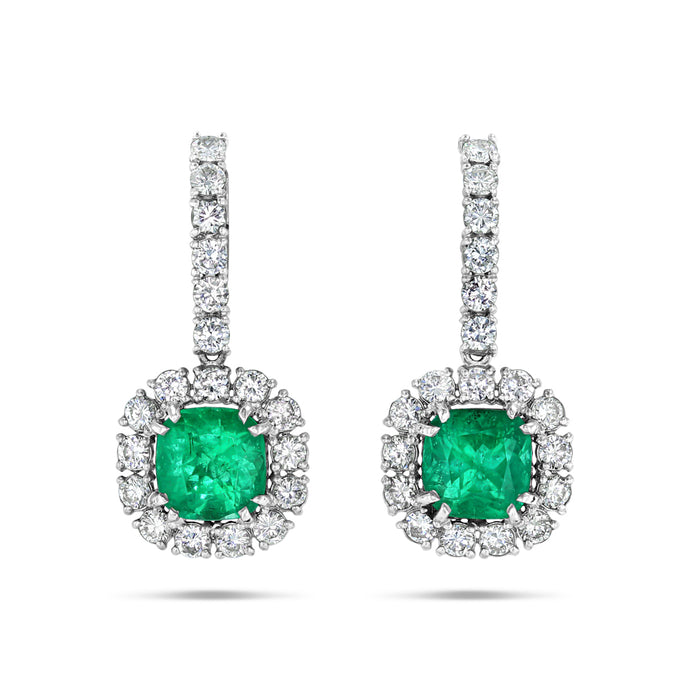 Legacy Emerald Drop Earrings - Best & Co.
