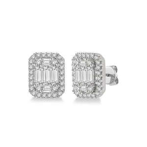 Emerald Illusion Halo Studs - Best & Co.