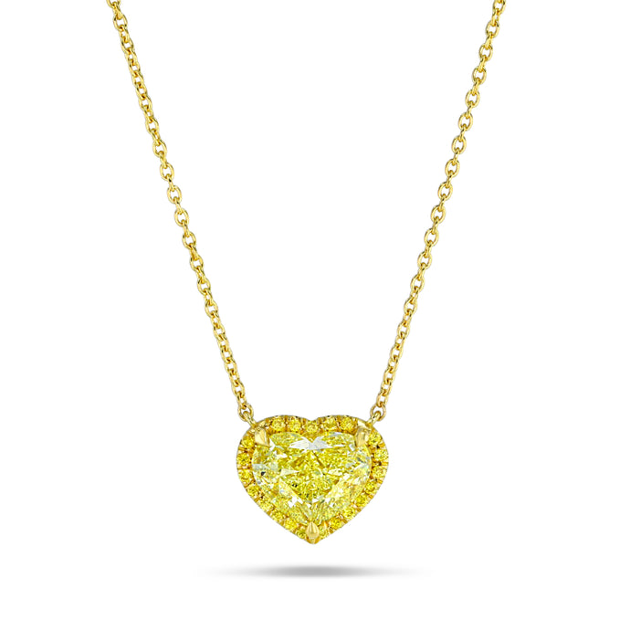Yellow Diamond Heart Pendant (3 carat)
