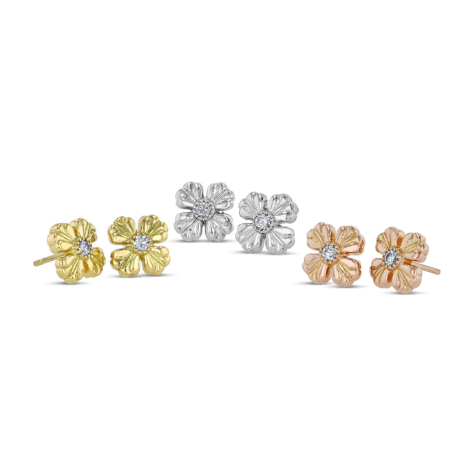 Best & Co. 10 mm Clover Studs (YG / RG / Plat)