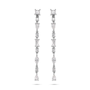 Delicate Multi-Shape Diamond Earrings - Best & Co.