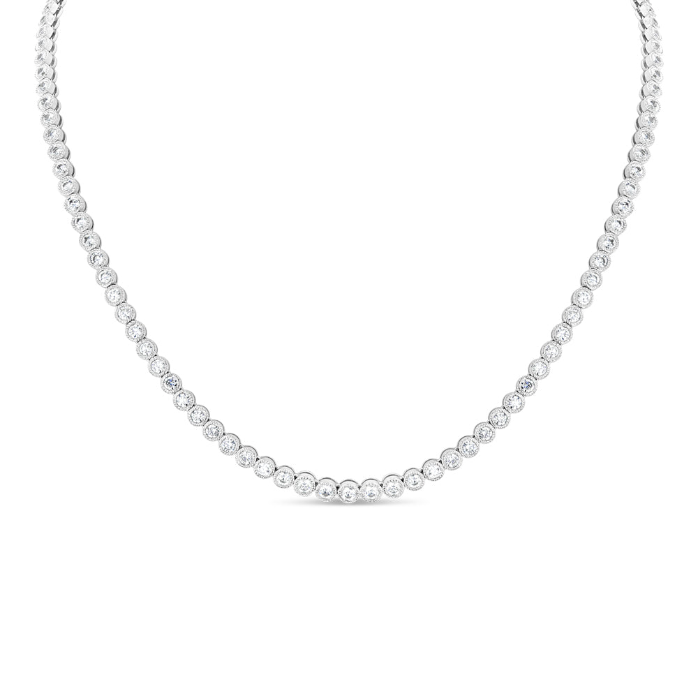 Bezel Set Diamond Eternity Necklace - Best & Co.