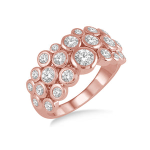 Organic Bezel Set Diamond Ring