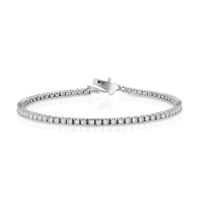 Princess Cut Tennis Bracelet - Best & Co.