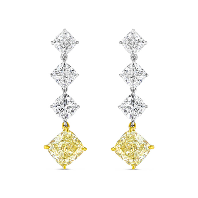 Legacy Yellow Diamond Drop Earrings - Best & Co.