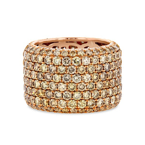 Champagne Diamond Pavé Band (18K Rose Gold) - Best & Co.