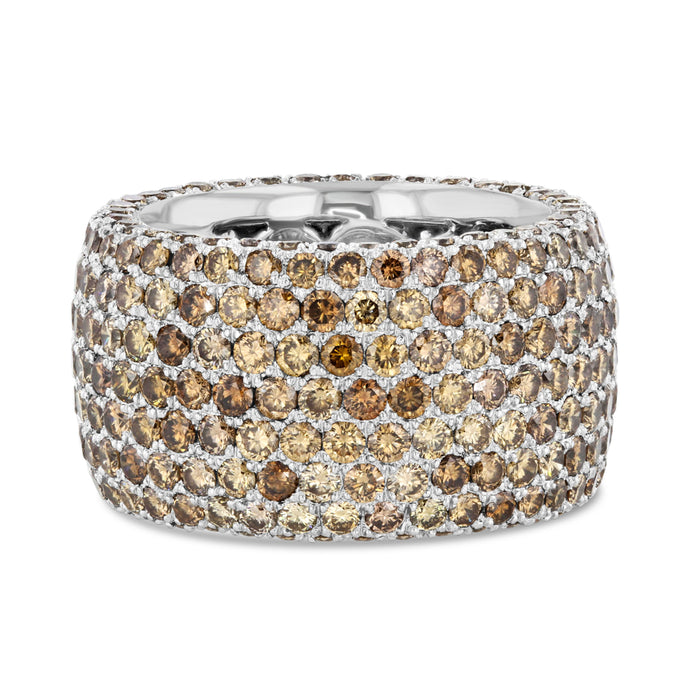 Champagne Diamond Pavé Band in 18k White Gold