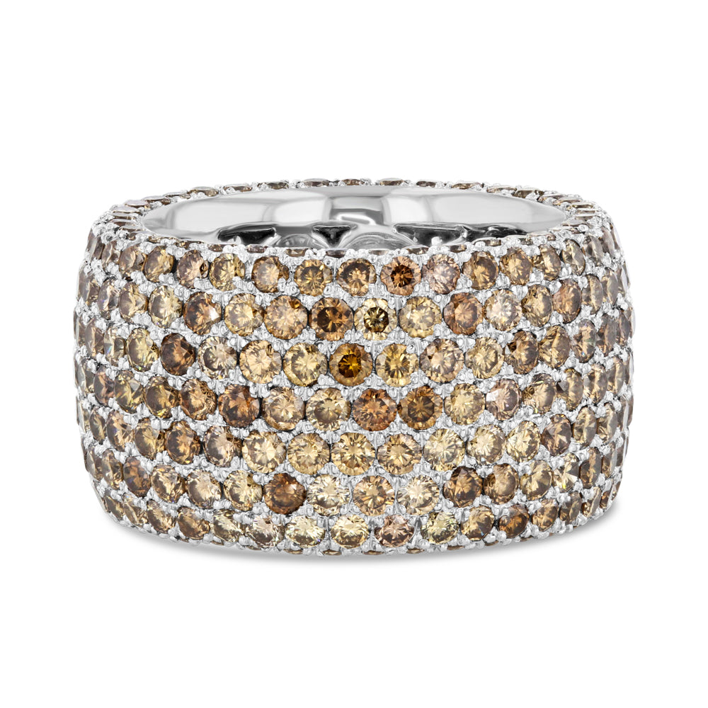 Champagne Diamond Pavé Band in 18k White Gold - Best & Co.