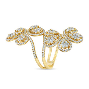 Double Flower Ring (Yellow Gold) - Best & Co.