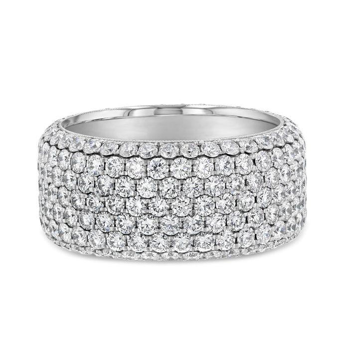 White Diamond Pave Band
