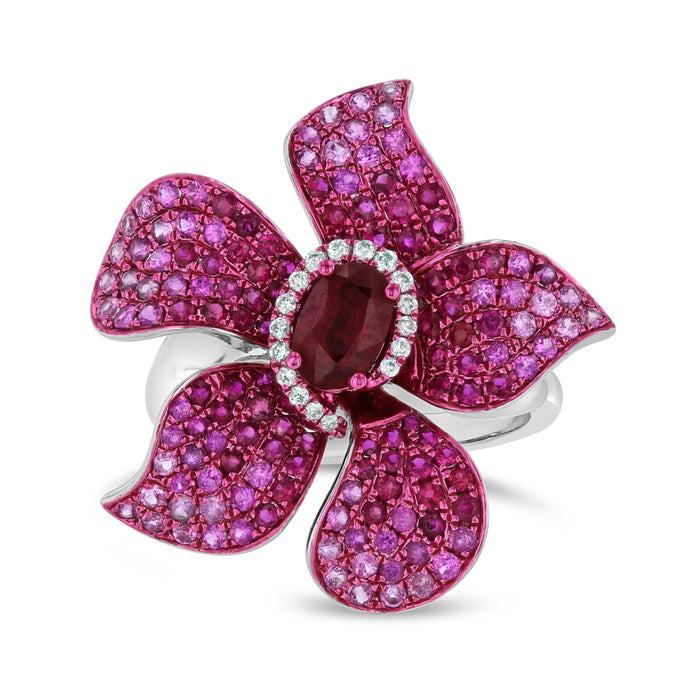 Pink Sapphire Flower Ring - Best & Co.