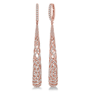 Diamond Barrel Duchess Earrings - Best & Co.