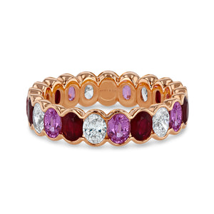 Ruby, Pink Sapphire and Diamond Eternity Band - Best & Co.