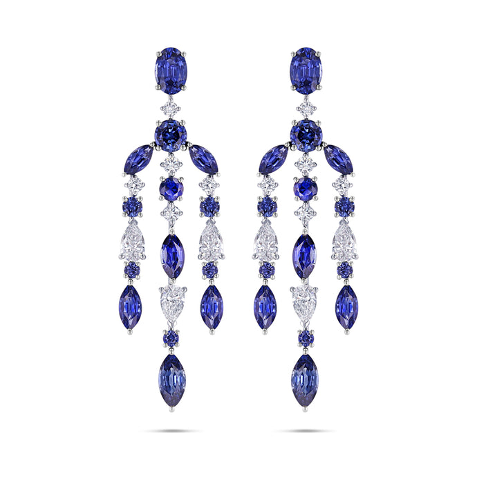 Sapphire and Diamond Chandelier Earrings - Best & Co.