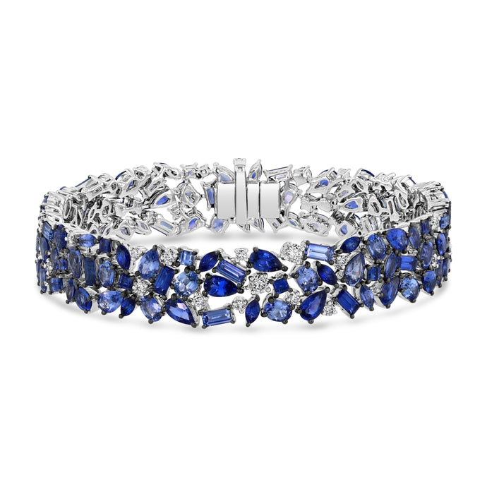 Signature Blue Sapphire and Diamond Bracelet