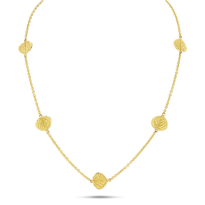 Aspen Leaf Station Necklace (18 inches) - Best & Co.