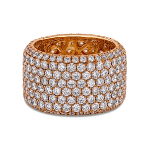 White Diamond Pavé Band in 18K Rose Gold