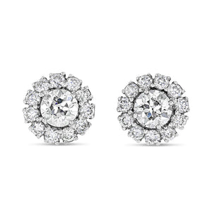 Diamond Halo Studs - Best & Co.