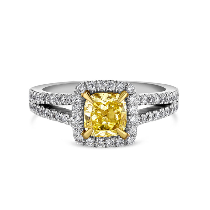 Yellow Diamond Cocktail Ring