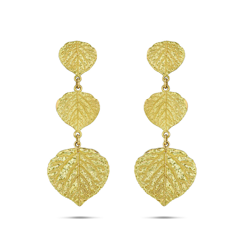 Aspen Leaf Triple Drop Earrings