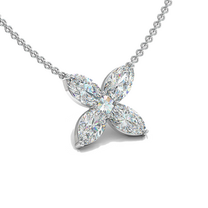 Diamond Flower Pendant - Best & Co.