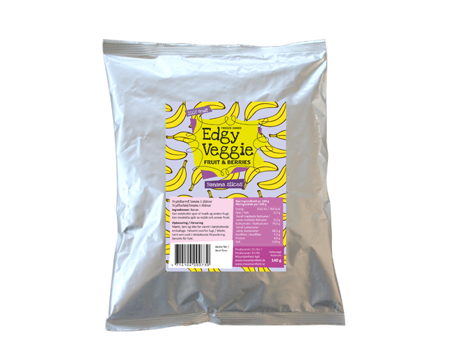 Edgy Veggie Freezedried Banana Slices (140 g)