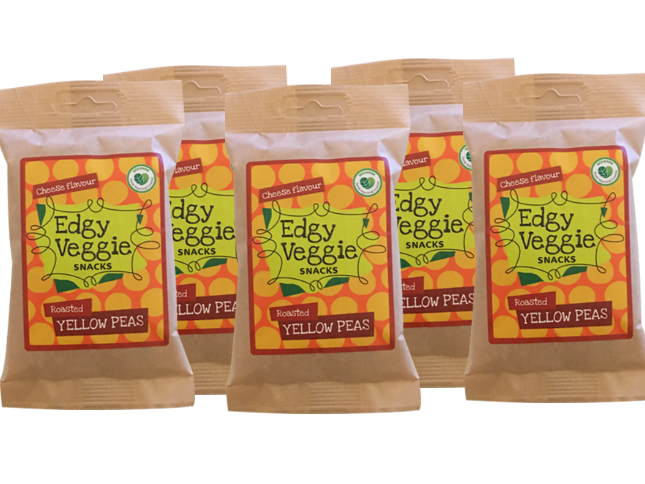 5 x Edgy Veggie Roasted Yellow Peas - Cheese flavour (5 x 100 g)