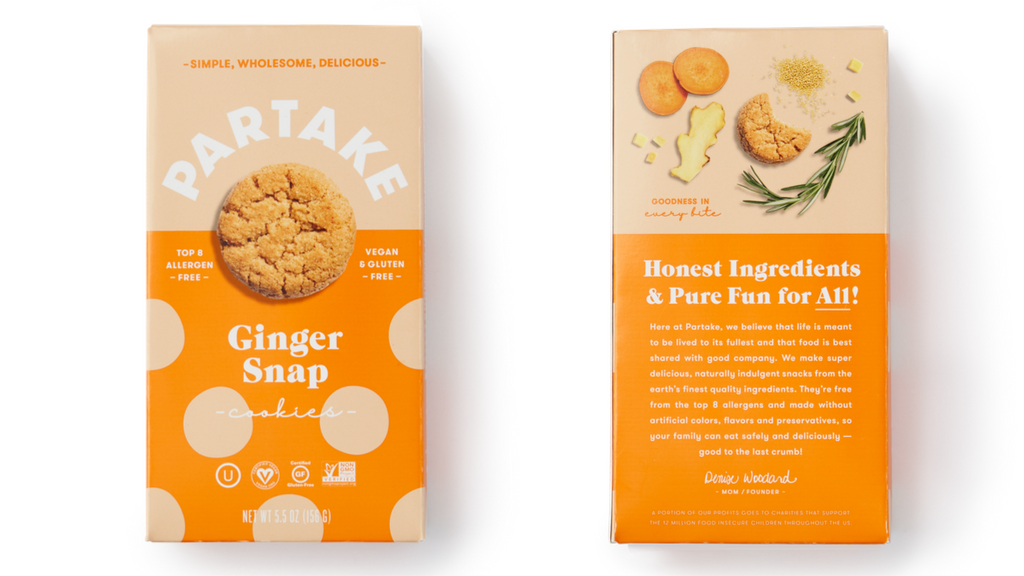 Partake Ginger Snap Cookies
