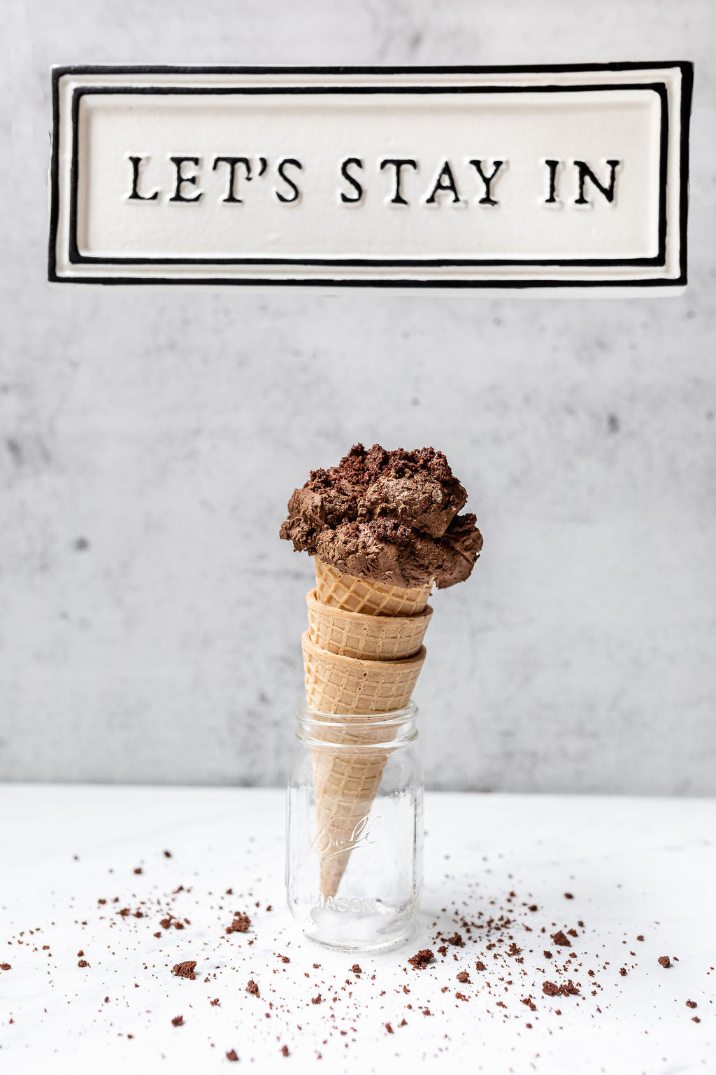 Let's stay in with ice cream