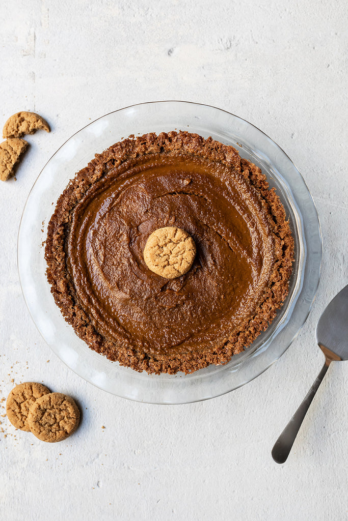 Thanksgiving Dessert Gluten-Free Pumpkin Pie With Partake Cookie Crust Recipe