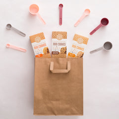 Partake Foods mini cookies variety shopping bag
